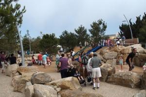 Children's play area in Tongva Park