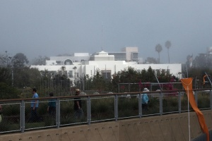 Santa Monica City Hall from Tongva Park
