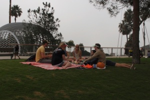 Picnickers in Tongva Park