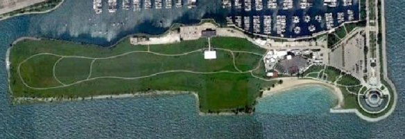 The park created in Chicago on the former Meigs Field.