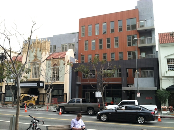 Infill development in downtown Santa Monica