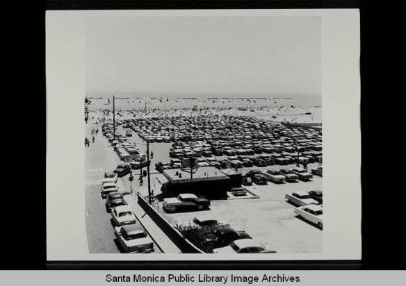 Beach_parking_on_July_17_1955_Santa_Monica_Calif